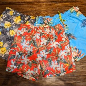 Set  3 Tommy Bahama Relax Mens Floral Swim Trunks